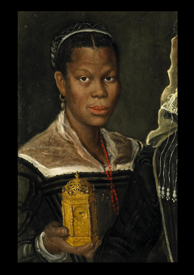 Annibale Carracci (attrib), Portrait of an Enslaved African Woman, ca. 1580s. Oil on canvas, 60 x 39 x 2 cm. Fragment of a larger painting, Tomasso Brothers, Leeds, England.